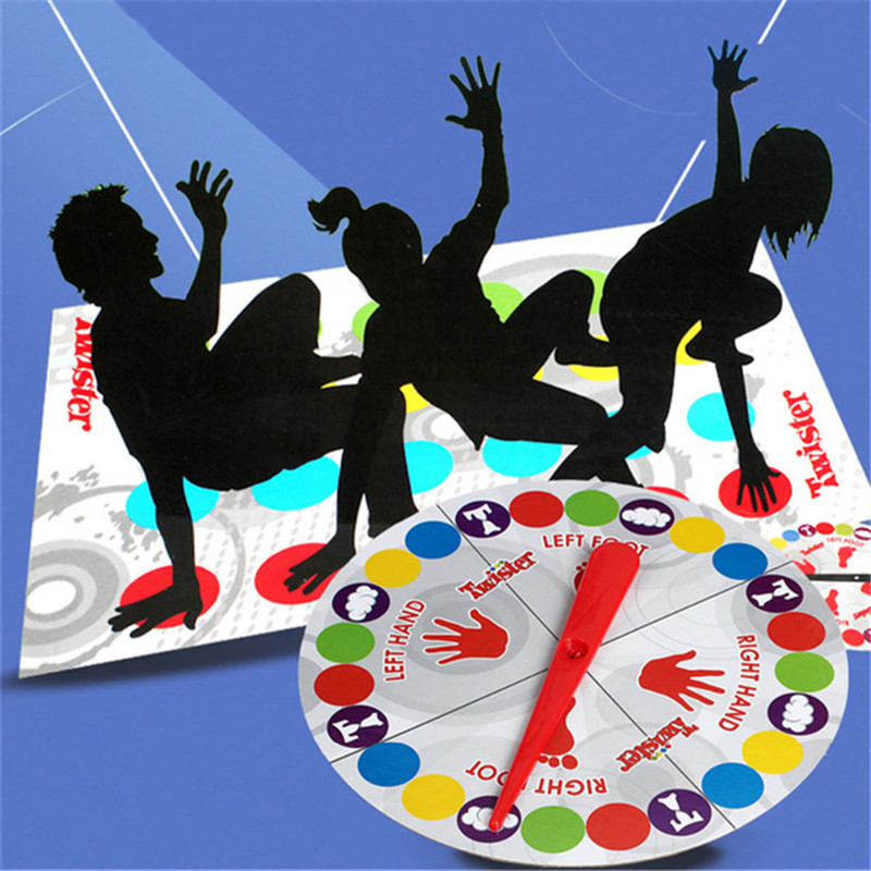 1Set Fun Outdoor Sports Toys Twister Moves Game Play Mat Twisting body Creative interactive educational toys Gift for kids