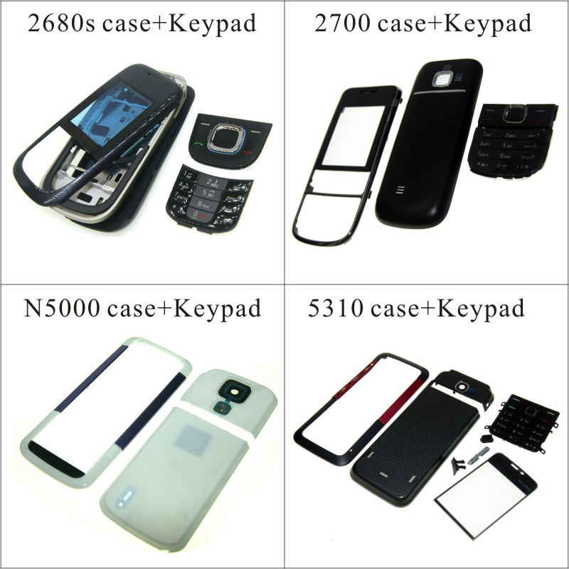 For <font><b>Nokia</b></font> 2680 <font><b>2700</b></font> n5000 5310 <font><b>Housing</b></font> Front Faceplate Frame Cover Case+Back cover/battery door cover+Keypad image