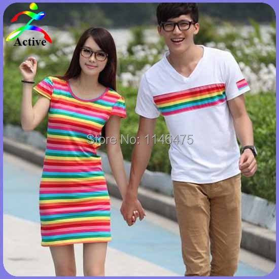 Hot Selling Preppy Style College Student Sweet Lover Couple Clothes