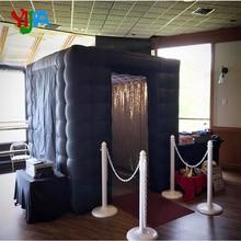 2,25 м два входа хороший салон с многократно Меняющие цвет светодиодный свет внутренний воздуходувка надувной фотостенд для свадебной вечеринки
