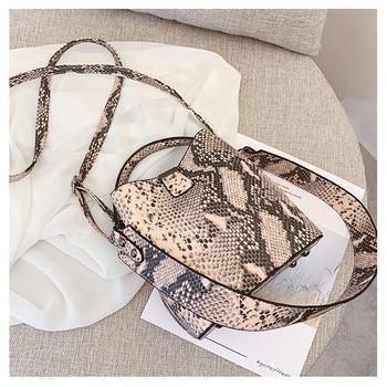 Designer Women bucket bag Snake  Female Messenger Bags