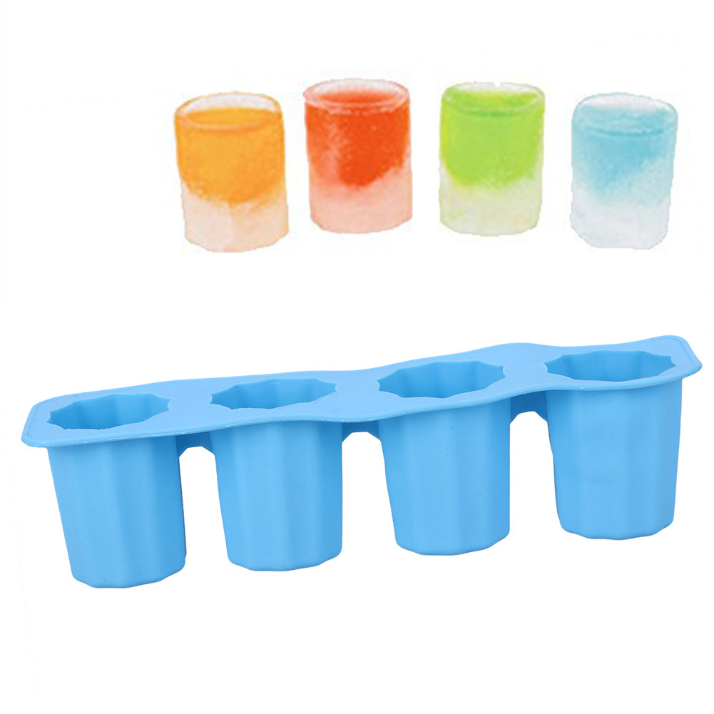 Kitchen Ice Cube Tray Mold Makes Shot Glasses Ice Cream Mould Ice Tray Summer Drinking Ice Cream Markers Tools