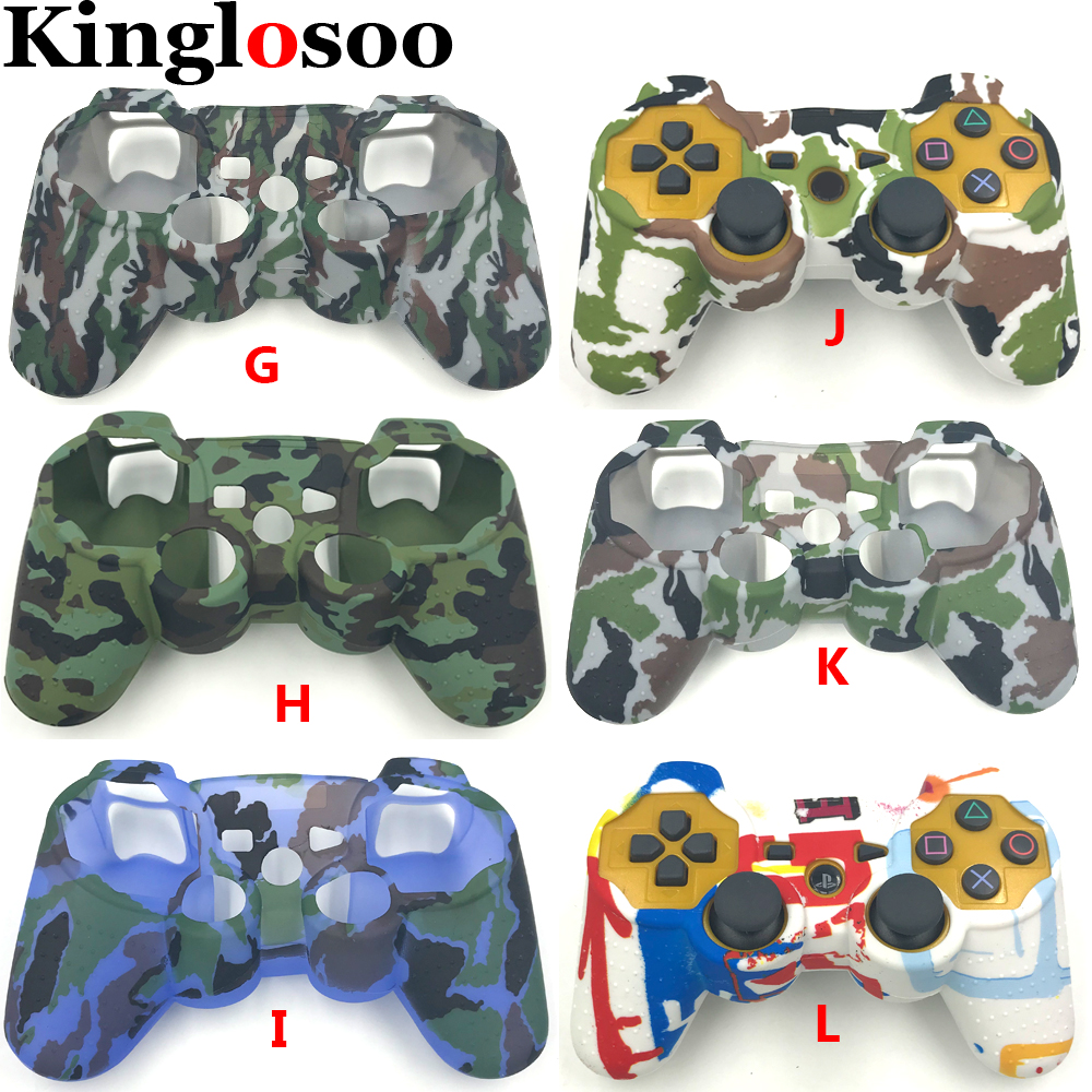 Camouflage Camo for Playstation 3 PS3 game controller soft silicone gel sleeve rubber case protective skin cover-in Cases from Consumer Electronics    1