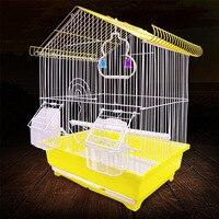 MUJIKU Aviculture инструмент для домашних животных оснащен стоячим палкой еда оконные ручки лотки птица клетка птица дом форма попугай клетка