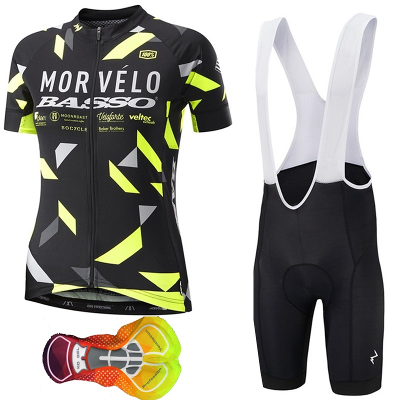 26e1def79 Cycling Jersey 2019 New Morvelo Women Bicycle Clothes Short Sleeve set Bike  Clothing Sportswear ropa ciclismo uniformes 16D pad