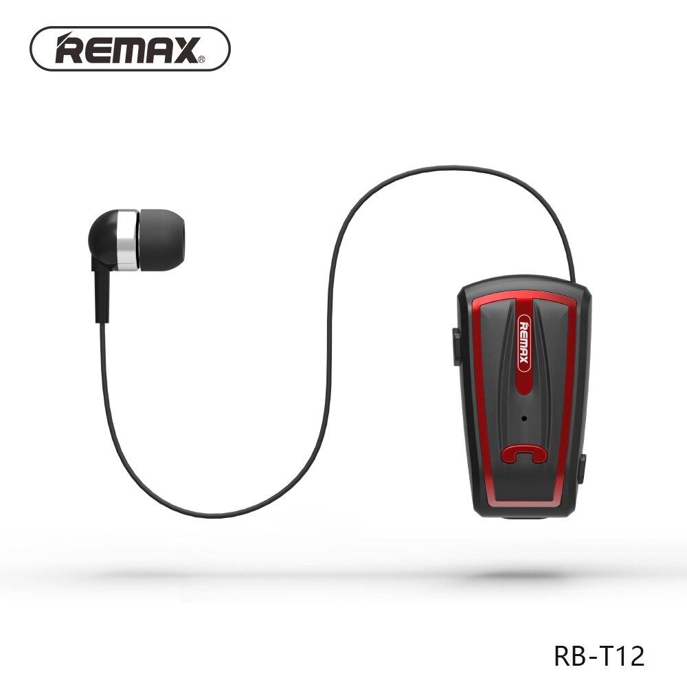 Remax T12 stéréo casque Sans Fil Clip Rétractable Bluetooth 4.0 Écouteur pour iPhone Android xiaomi