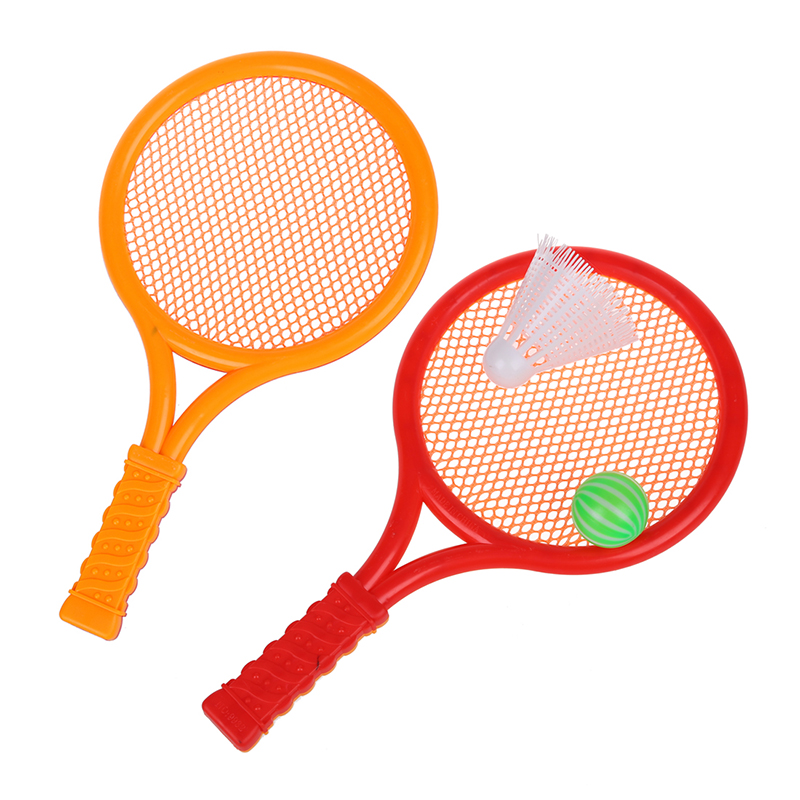 Red Children Kids Play Game Plastic Tennis Badminton Racket Sports Toy Set Gift
