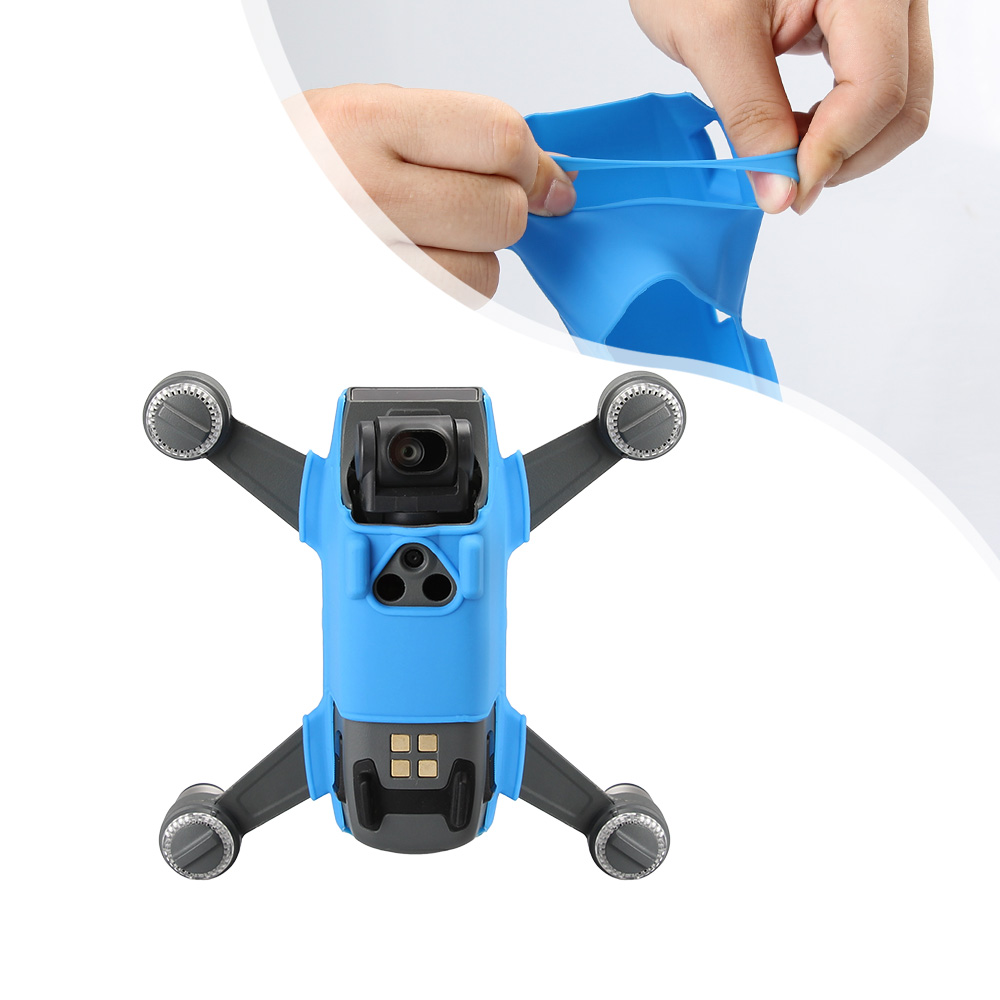 DJI Spark Mini RC Quadcopter Drone cuerpo silicona Gel funda Multi-color Anti-rayado funda protectora duradera