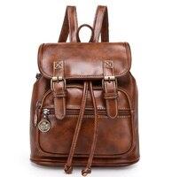 Fashion Women Fashion Designer Brand Backpacks Vintage Pu Shoulder Bag Retro Small Lady Schoolbag Mochila Cute