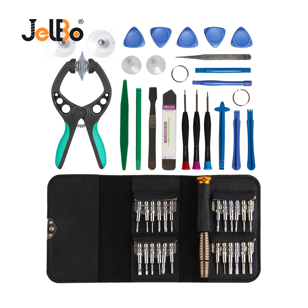JelBo 45 In 1 Mobile Phone Repair Tool Screwdriver Repair Tool Set LCD Screen Opening Plier Suction Cup For IPhone