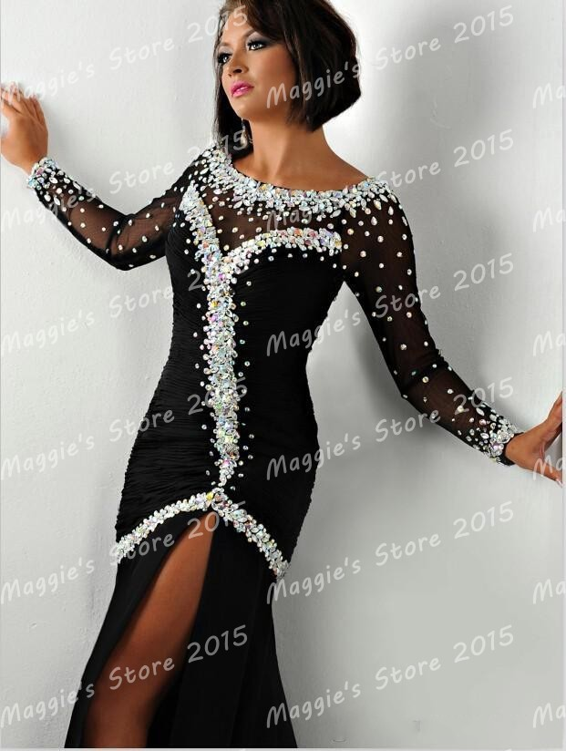 Black and bling plus size dresses