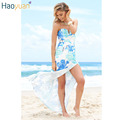 HAOYUAN Summer Sexy Beach Maxi Dress High Elasticity Wrap Backless Split Off Shoulder Dress 2017 Women Sexy Club Party Dresses
