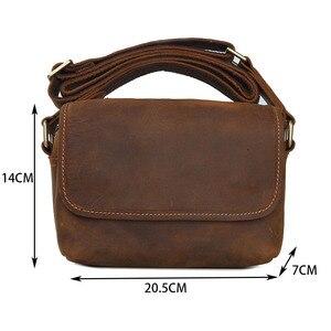 Image 5 - AETOO Mens leather shoulder bag simple cowhide crossbody bag male bag Japanese casual pack