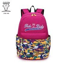 Fido Dido нейлон Рюкзаки для подростков модная одежда для девочек Листья печати рюкзак женщины Mochila случайный плечо школьная сумка дорожная!