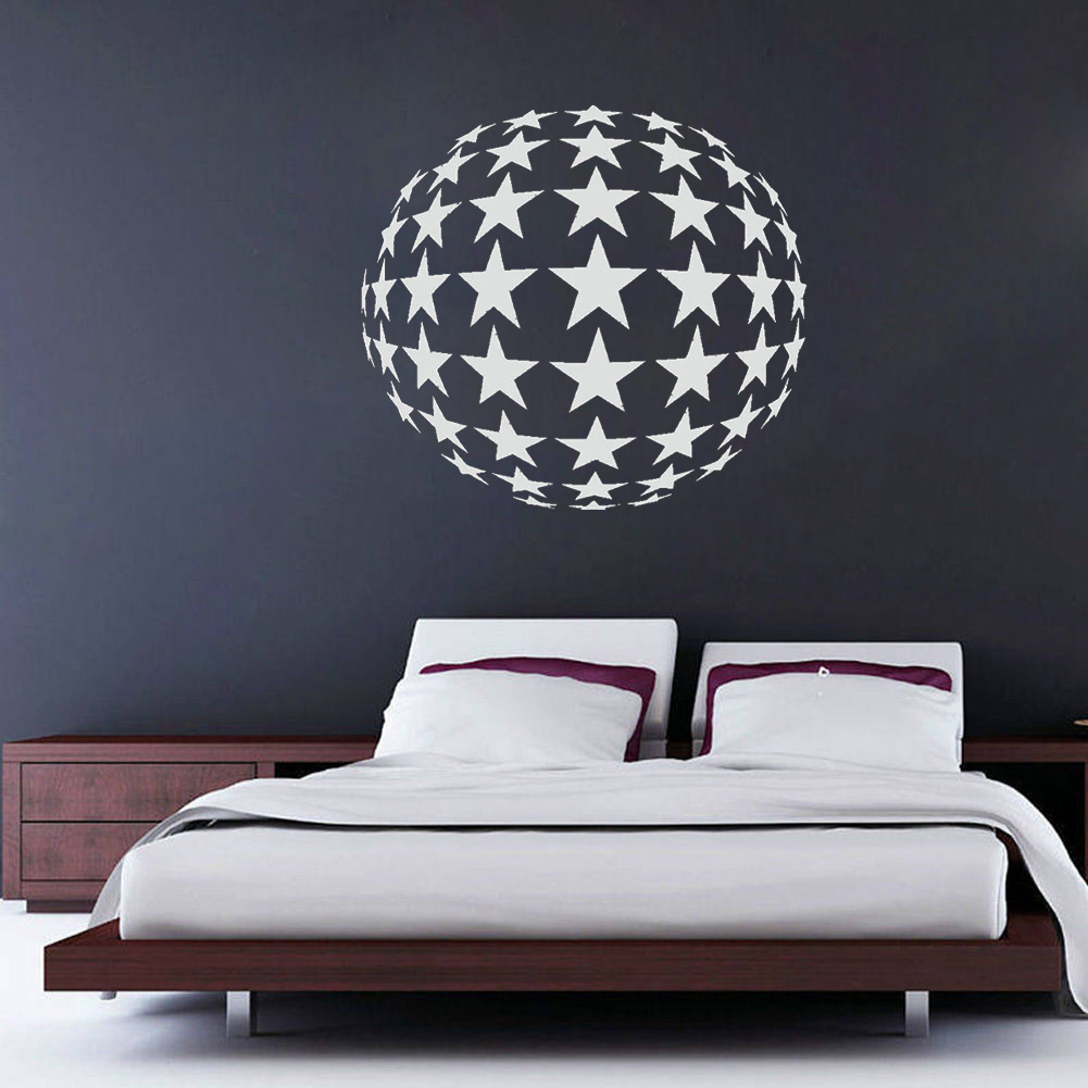 Star Ball Circle 80s Lounge Kitchen Vinyl Wall Art Decal Sticker Home Decor Mural  80s wall art   Amazing Wall Art Made From '80s Cassettes and Wire Nuts Star Ball Circle font b 80s b font Lounge Kitchen Vinyl font b Wall b font