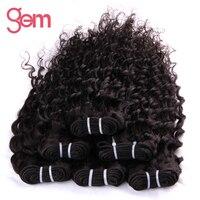 Maleisische Krullend Haarweefsel 1 st 100% Menselijk Haar Weeft Bundels GEM BEAUTY Haarproducten Non-remy Haar natuurlijke Zwarte 1b