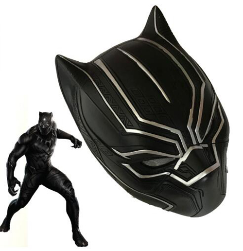Black Panther Helmet Carnival Halloween Cosplay Accessories Superhero Black Panther Plastic Helmet Panther Mask Costume