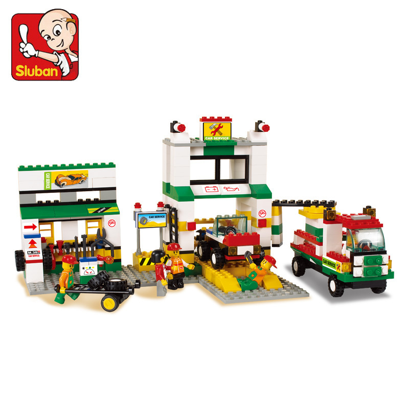 model building kits compatible with lego city gas station 747 3D blocks Educational model & building toys hobbies for children власов александр иванович сонеты