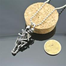 Skull Love Pendant Necklace Men Women Infinity Love Necklace Silver Plated Couple Skulls Hug Chain Pendant
