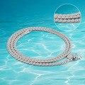 El envío libre de moda collar de plata de ley 925 hombres de plata de la personalidad dominante de plata brillante collar