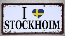1 pc I love Stockholm Football Sweden Cup plaques World Tin Plates Signs wall man cave Decoration Metal Art Vintage Poster