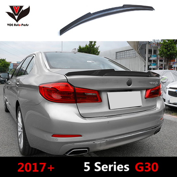 VOE G30 Carbon Fiber M4-style Auto Car-styling Rear Wing Trunk Lip Spoiler for BMW New 5 Series G30 2017+ image