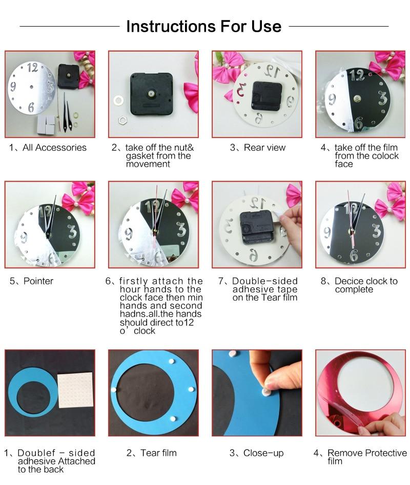 new wall clock modern design 3d clocks quartz watch plastic living
