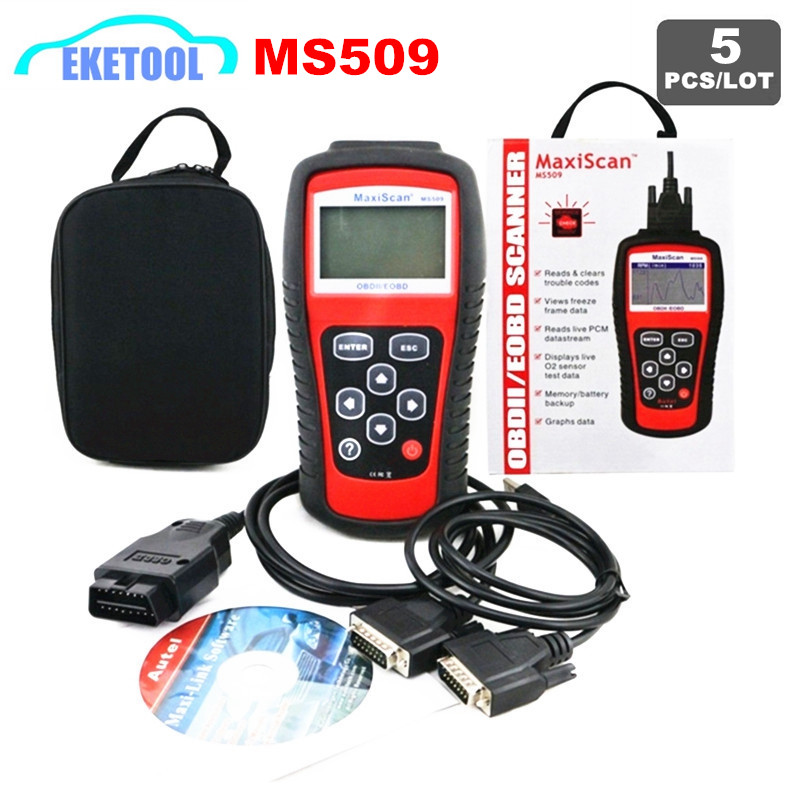 5pcs Lot Wholesale MaxiScan OBD2 Code Reader Diagnosis Tool MS509 Multi Function OBDII Live Data Universal