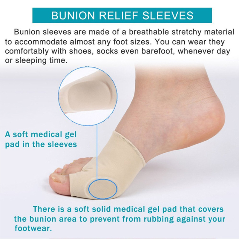 Купить с кэшбэком 7Pcs/Set Bunion Corrector Gel Pad Stretch Nylon Hallux Valgus Protector Guard Toe Separator Orthopedic Supplies Foot Care Tool 3