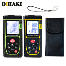 LCD Laser Measure M/Ft/In Mute Laser Distance Meter with Carry Pouch Area and Volume measure device ruler test tool 40/60/80M sw q80 digital sndway 0 05 80m talking device distance meter laser rangefinders bubble level area volume m ft in tool