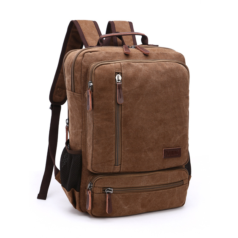 DB76 New Arrive Original Z.L.D Canvas Leather Men Travel Bags Men Duffel Bags Travel Tote Weekend Bag Overnight Laptop Backpacks