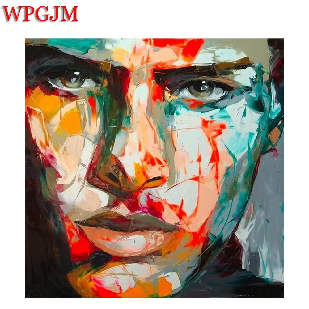 Francoise Nielly canvas painting Oil Paintings For Living Room Wall fashion home wall art Hand painted Knife painted face