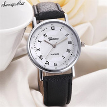 Fashion Unisex Watches Leisure Dial Leather Band Women men Clock Analog Quartz Wrist Watch Watches wholesaleF3