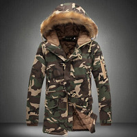 New Winter Jacket Men 2017 Hot Sale Army Camouflage Casual Thick Jacket Men S Parka Overcoat