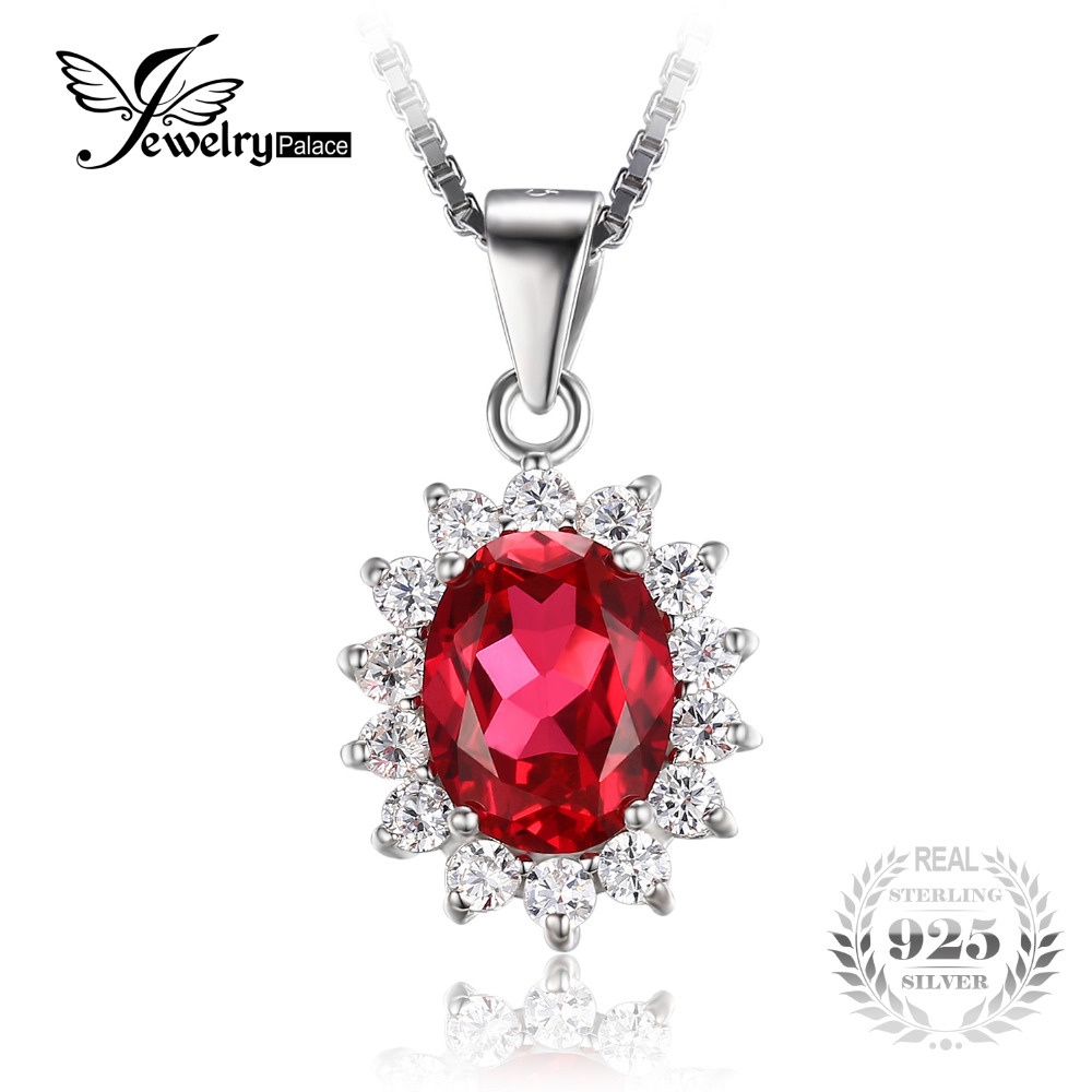 Jewelrypalace 32ct oval red ruby pendant genuine 925 sterling jewelrypalace 32ct oval red ruby pendant genuine 925 sterling silver charms princess diana william engagement pendant no chain in pendants from jewelry mozeypictures Image collections