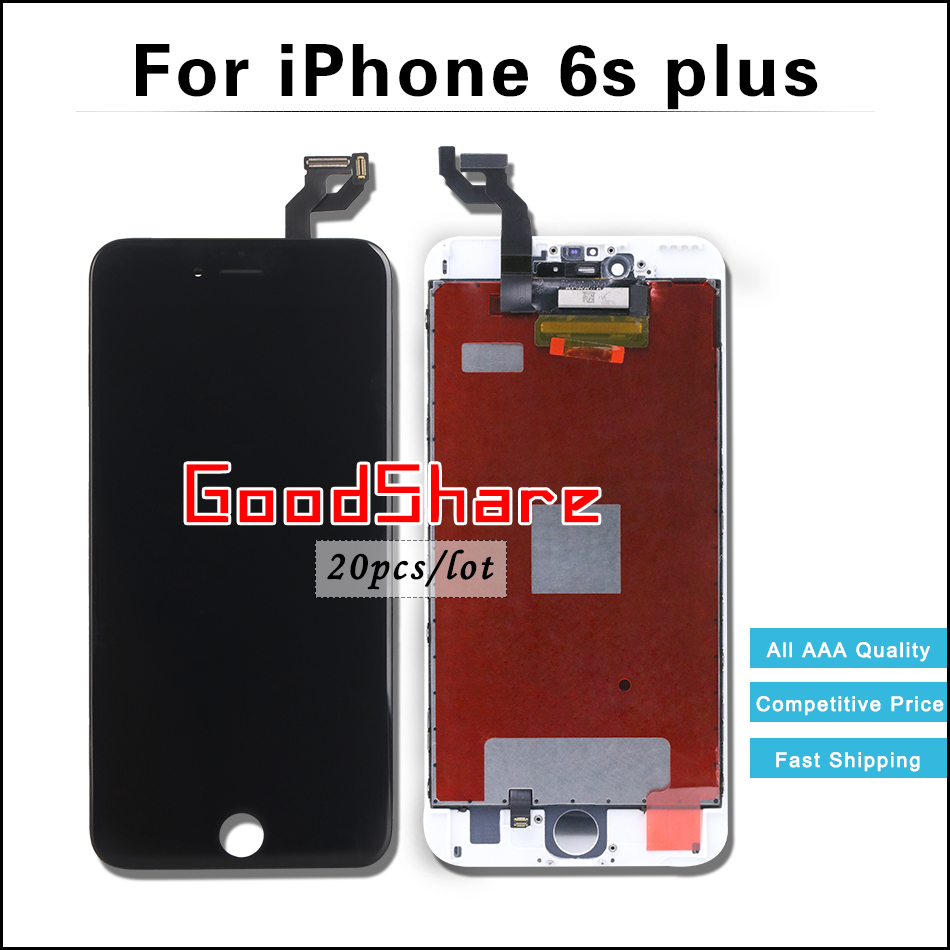 20 PCS/LOT AAA Dead Pixel 5.5 For iPhone 6s plus LCD Display Screen Digitizer Assembly Replacement Black/White Free DHL Ship