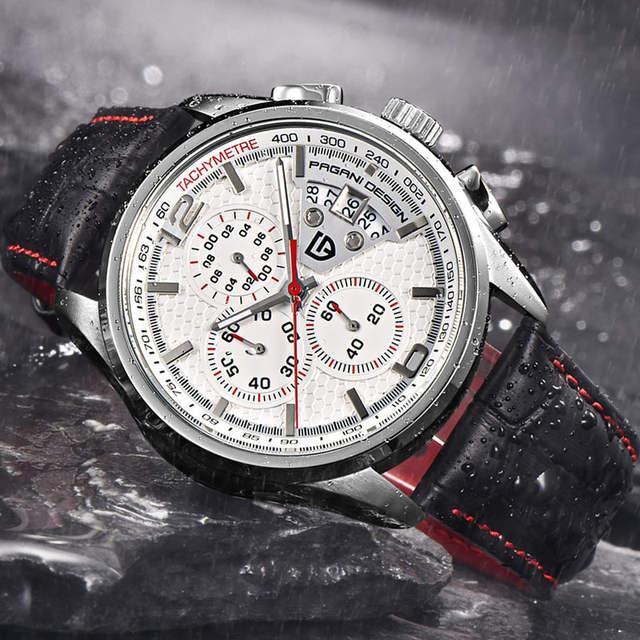 1a107e99600 PAGANI PROJETO Relógios Homens Marca De Luxo Multifunções Homens Cronógrafo  de Quartzo Relógio Do Esporte de
