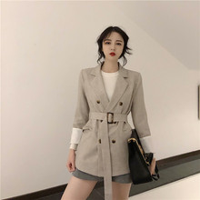 Spring Women Blazer Fashion Office Lady Suit Casual Retro Bl