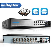 H 264 5 In 1 AHD TVI CVI 16CH DVR 1080P Video Recorder 2MP AHD Camera