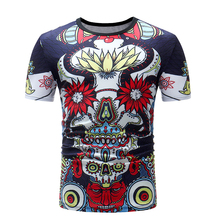 DropshippingSummer new mens casual short-sleeved T shirt fashion abstract style design