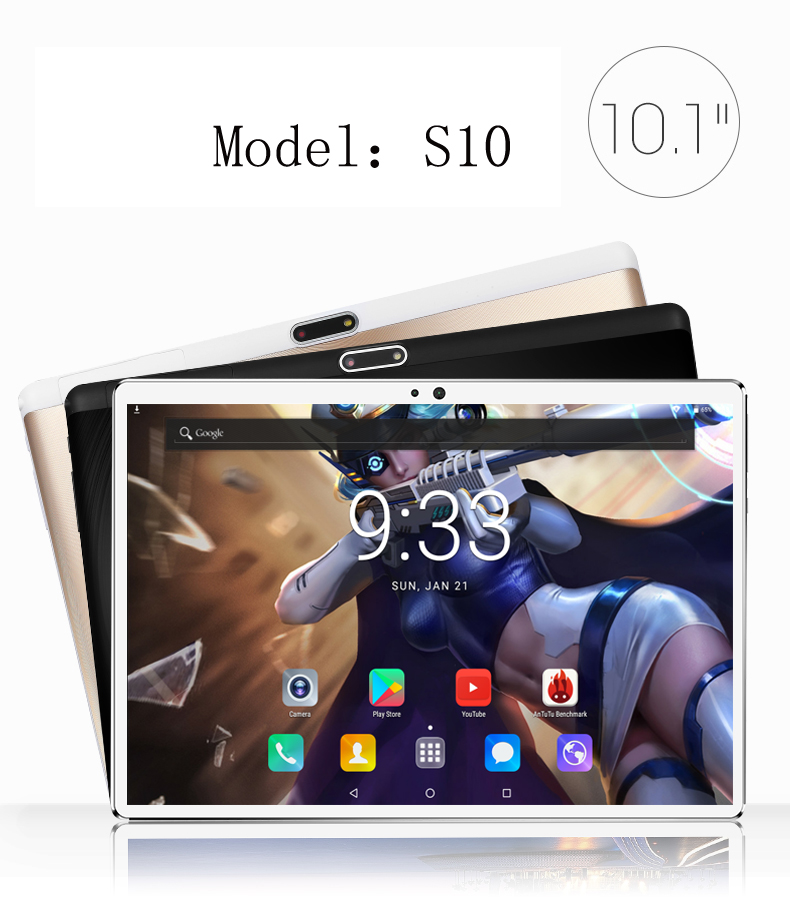 New 2.5D 10 inch android 7.0 Tablet Pc 4GB And 64GB SIM Card SLOT 1920*1200 HD LCD Dual Camera 7 8 9 10 tablet 10 Core CPU(China)