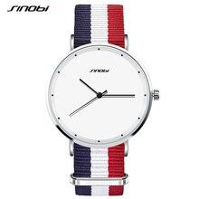SINOBI Sports Women Wrist Watches Nylon Watchband Top Luxury Brand Fashion Females Geneva Quartz Clock Ladies Running Wristwatch
