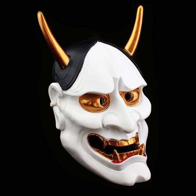 الراتنج اليابانية البوذية الشر أوني نوه هانا قناع كبير 18*30 سنتيمتر حفلة تنكرية هالوين تأثيري الرقص قناع