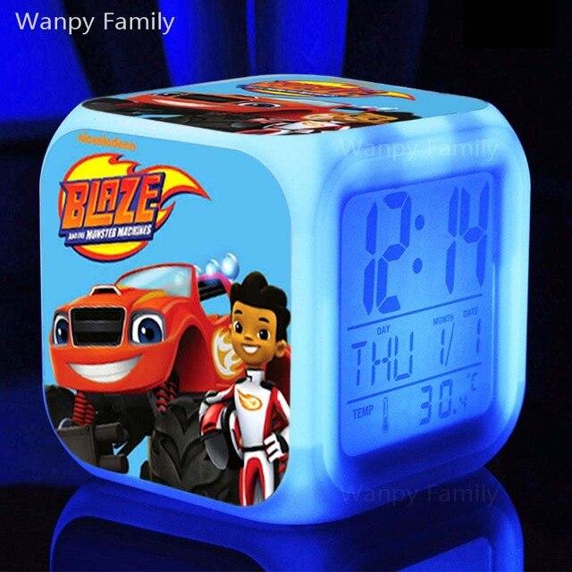 blaze monster machines alarm clocks glowing led color change digital