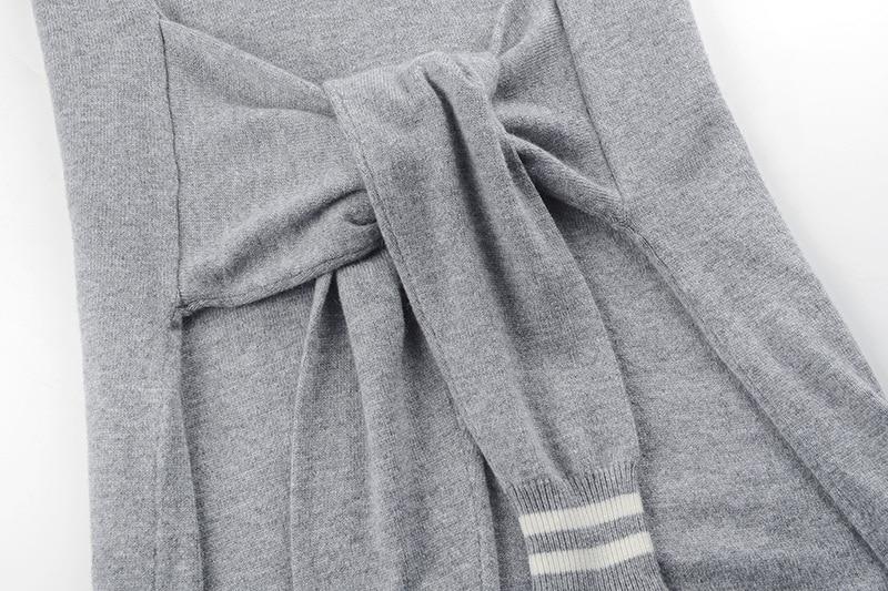 Couleur Getsring Nouvelle Autum Tricot 2018 Irrégulière Contraste Partie Loisirs Capuche Dentelle Femmes Mode Robes À CBWoxder