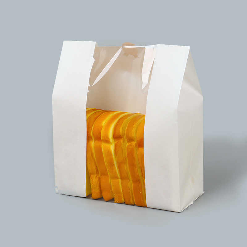 Lbsisi Hidup 50 Pcs Kraft Kertas Roti Jelas Menghindari Minyak Kemasan Roti Window Tas Baking Takeaway Makanan Paket Kue Tas pesta