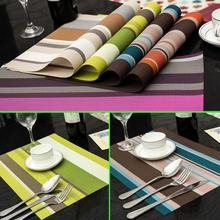 4 PCS/Lot 30*45cm PVC Placemats Dining Tables Place Mats Pad Tableware Utensil Restaurant Table Cloth Pad Slip-Resistant Pad