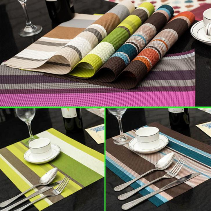 4 PCS/Lot 30*45cm PVC Placemats Dining Tables Place Mats Pad Tableware  Utensil