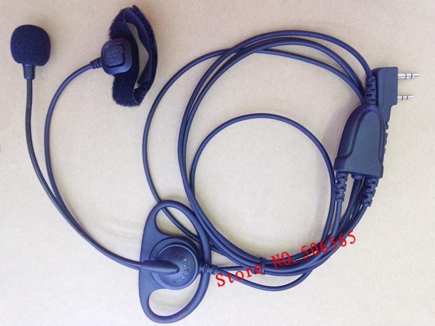 D form hovedtelefon med MIC Finger PTT K stik til Kenwood Baofeng BF-UV5R, BF888S, Puxing, TYT, Weierwei etc.walkie talkie