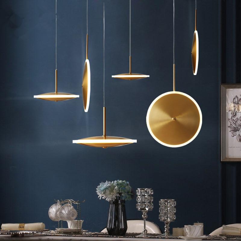 Luz Pingente De Vidro moderno Nórdico Cozinha Sala de Jantar Designer de Luz Lâmpadas Penduradas Avize Lustre Iluminação